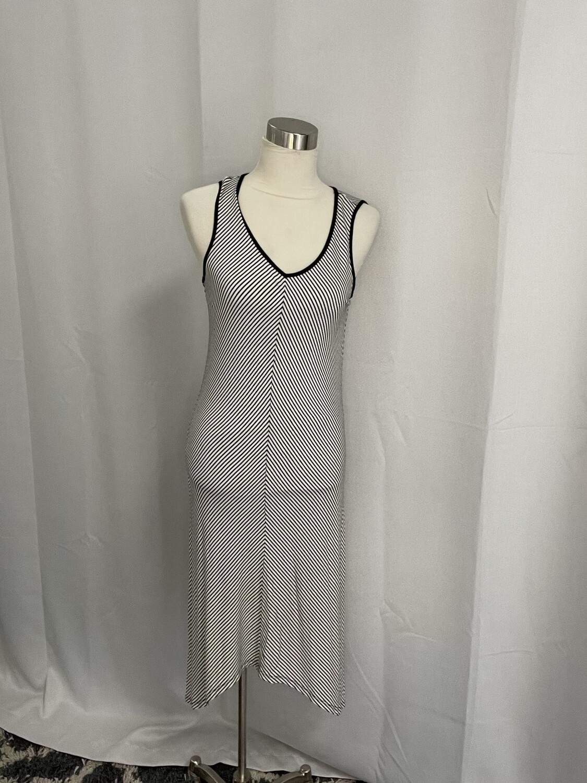 Sunday Black & White Striped Dress - S