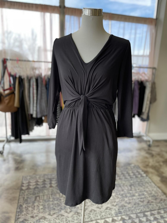Entro Black Tie Front Dress - S