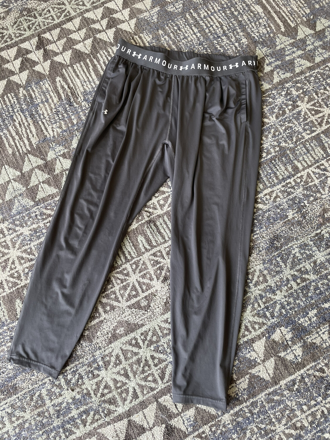 Under Armour Gray Athletic Pants with Pockets - XL