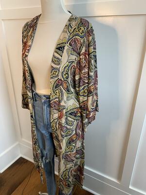 Entro Paisley Pattern Kimono - L