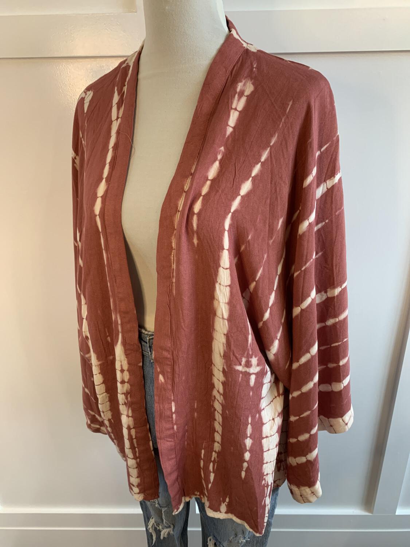 Style Envy Pink & Cream Tie Dye Layering Top - S/M