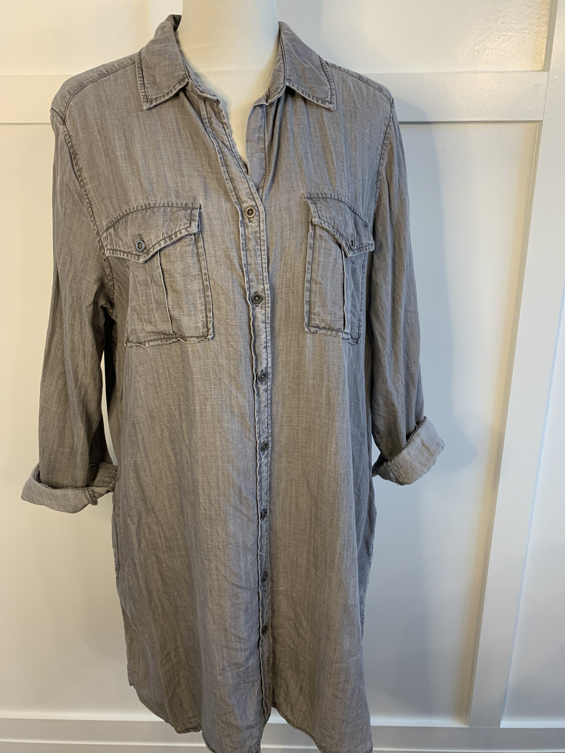 Philosophy Button Up Dress w/ Pockets - XL