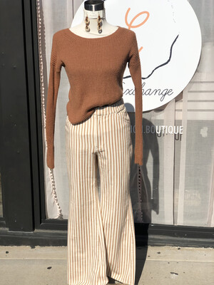 Express Camel Knit Sweater - XS