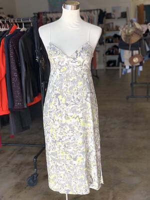 Splendid Grey & Neon Patterned Midi Dress - XS