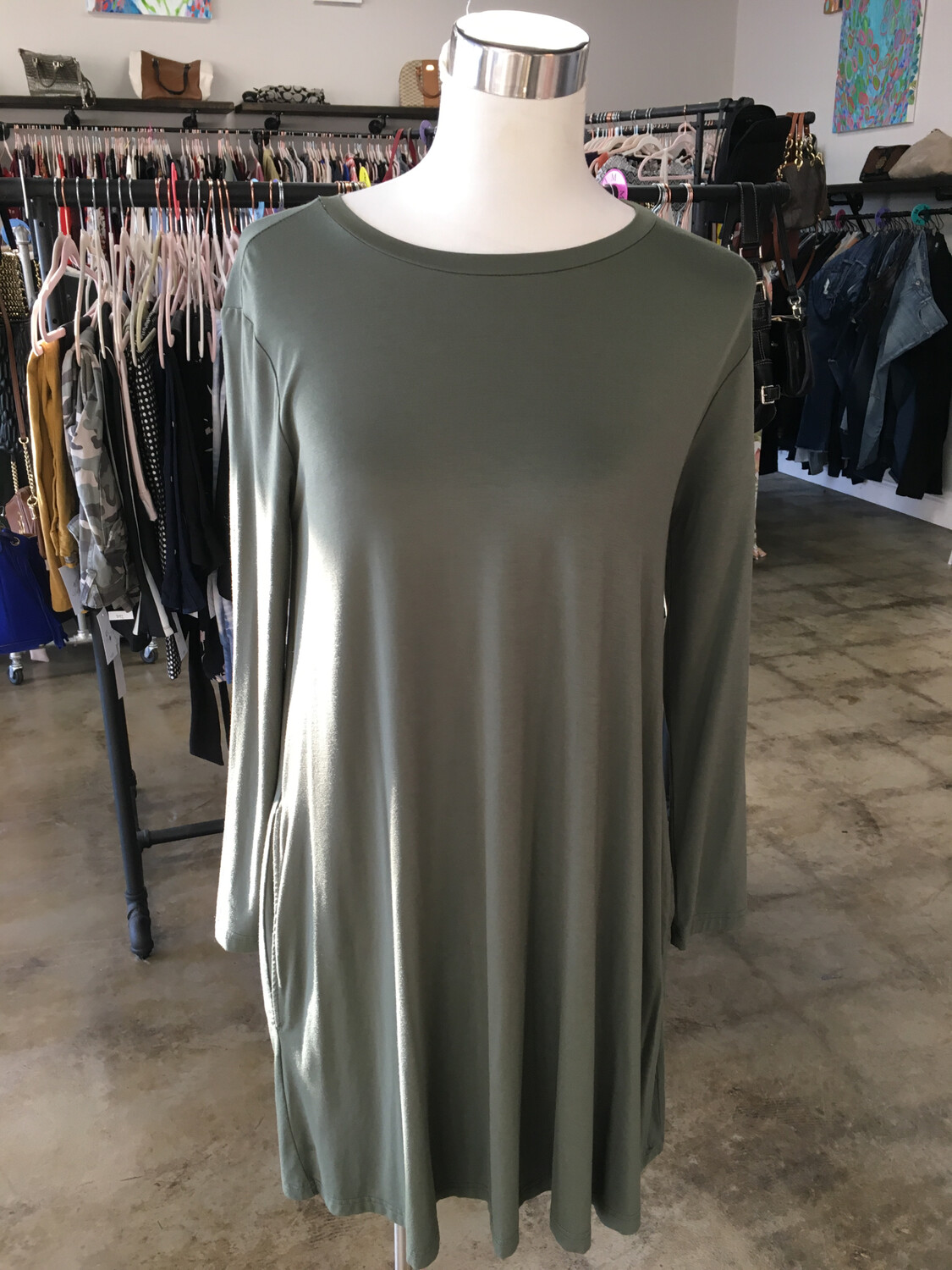 Piko 1988 Olive Green Dress - S