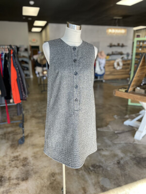 Gap Grey Wool Button Up Tank Dress - Size 10