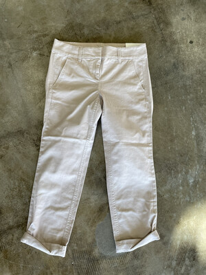 LOFT Khaki Modern Chino Cropped Pants - Size 00
