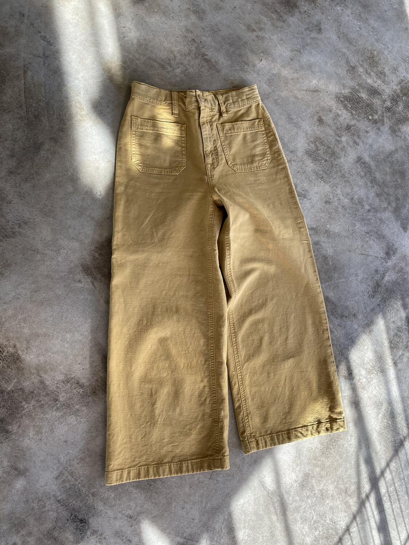Point Sur Mustard Wide Leg Crop Pants - Size 24