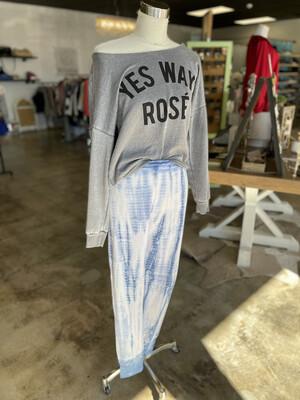 Sam & Lavi Blue & White Tie Dye Pants - S