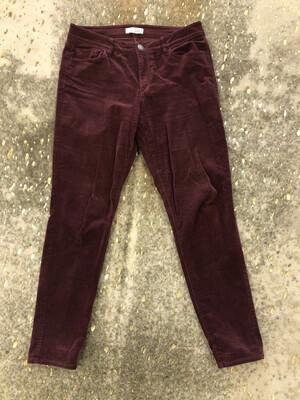 LOFT Burgundy Cord Curvy Skinny Pants - Size 10