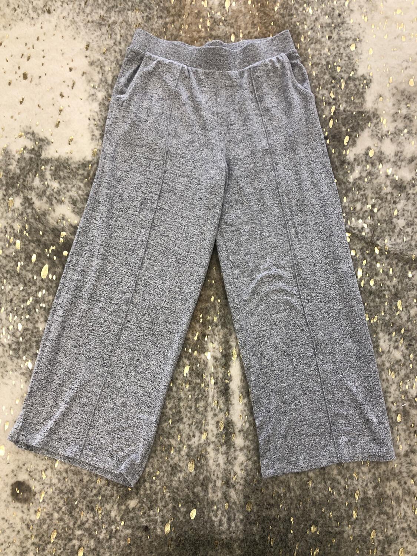 Z Supply Grey Cropped Cozy Pants - M