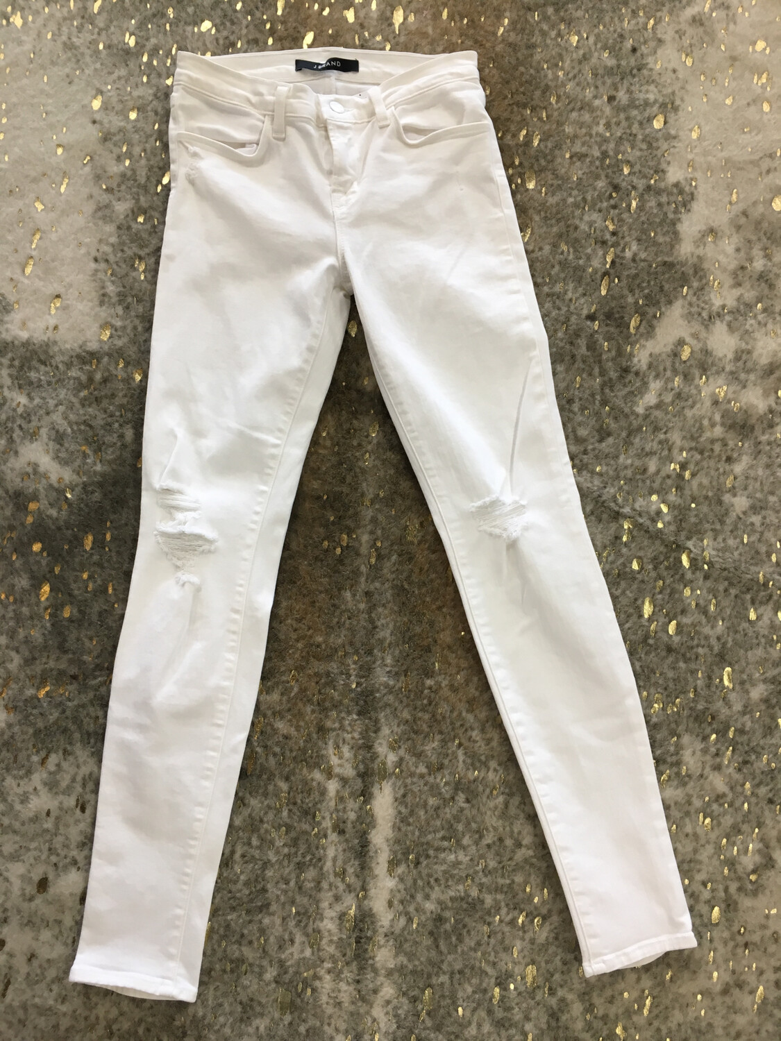 J Brand White Distressed Jeans - Size 26