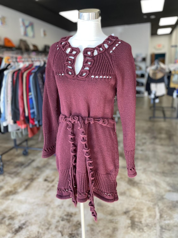 Heather B Maroon Sweater Dress - XL