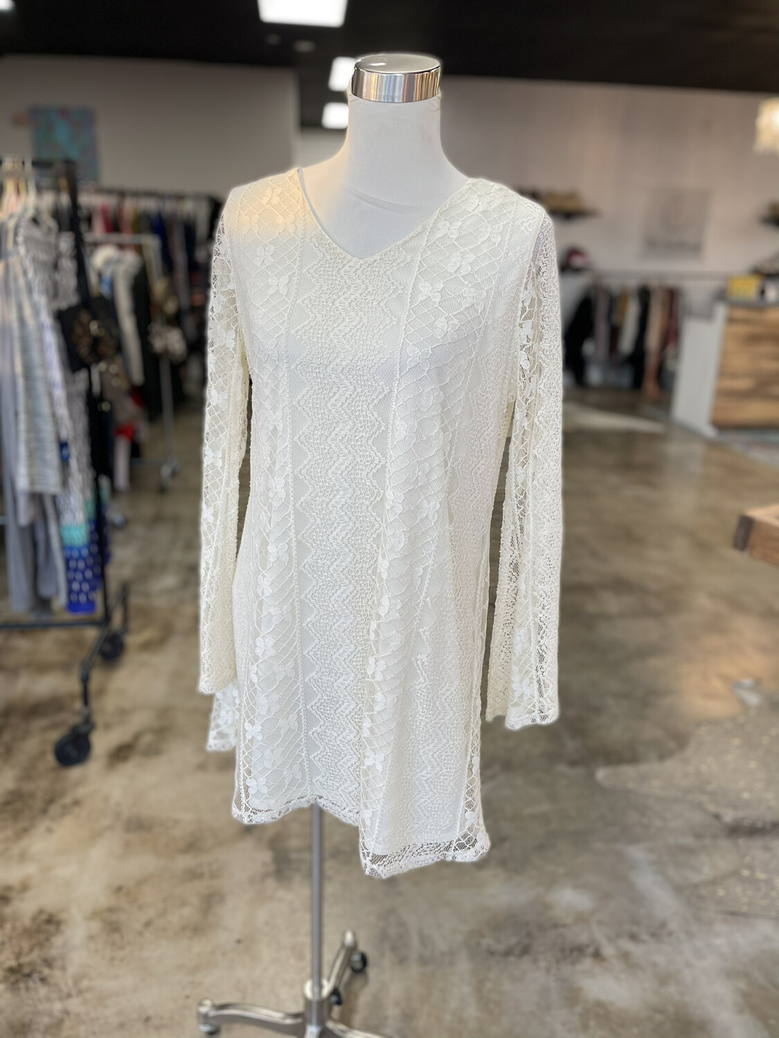 Red Camel White Lace Dress - XL