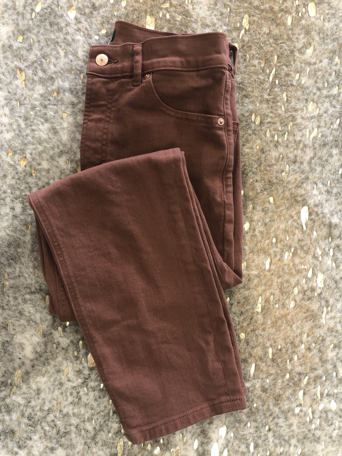 Express Brown Mom Jeans - Size 6