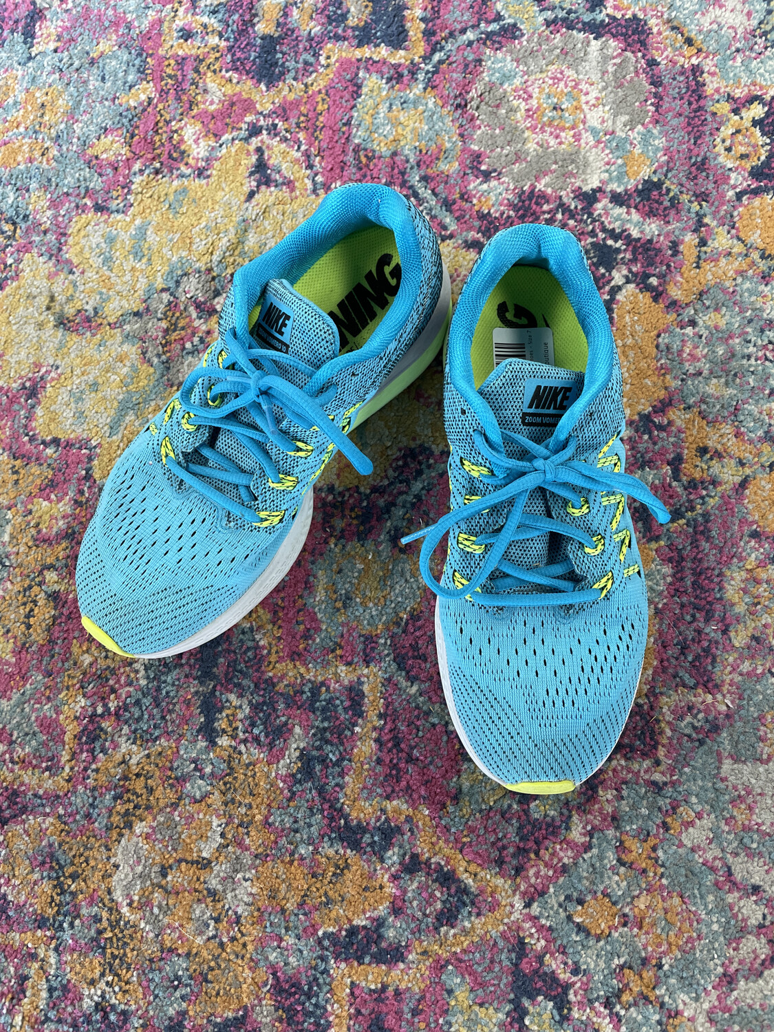 Nike Blue Zoom Running Shoes - Size 7