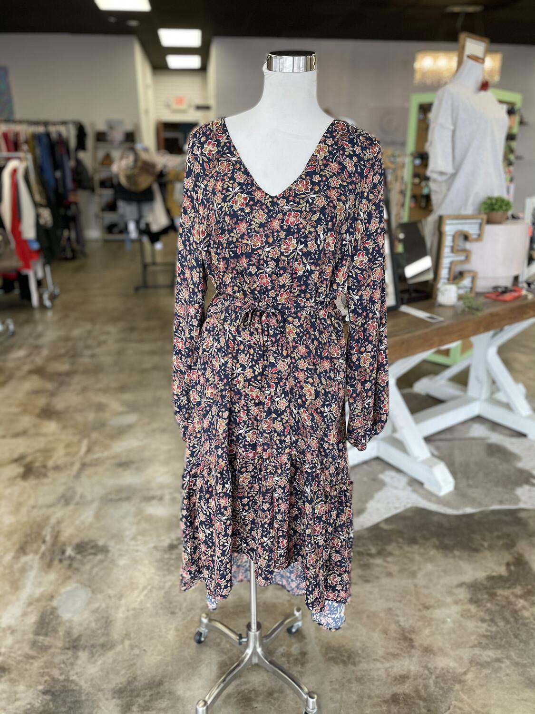 A Beautiful Soul Navy Floral Dress - Size 10/12