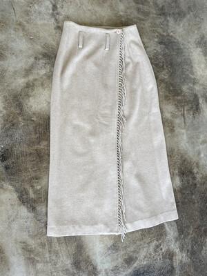 EXP Jeans Tan Wool Fringe Skirt - Size 1/2