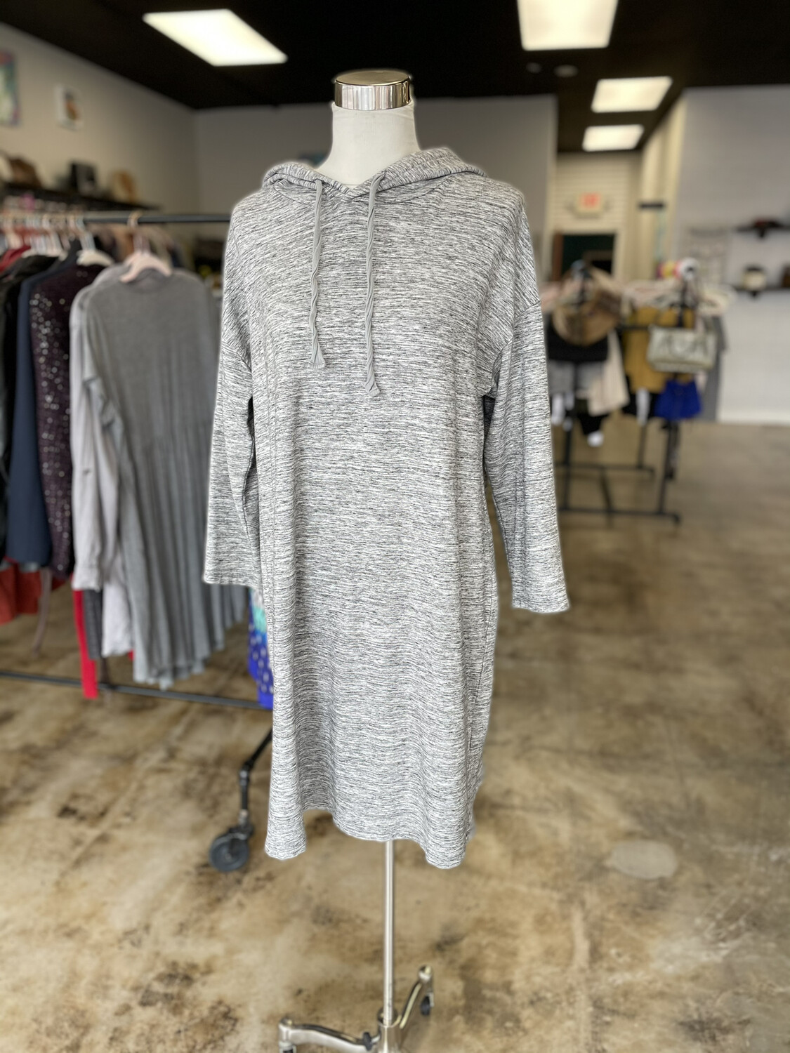 Daily Ritual Grey Hooded Dress - XL