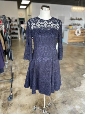 Eliza J Navy Bell Sleeve Dress - Size 10