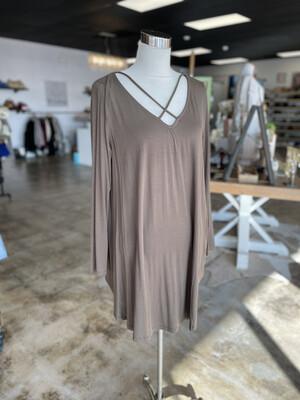 Wishlist Olive Criss Cross Front Dress - L