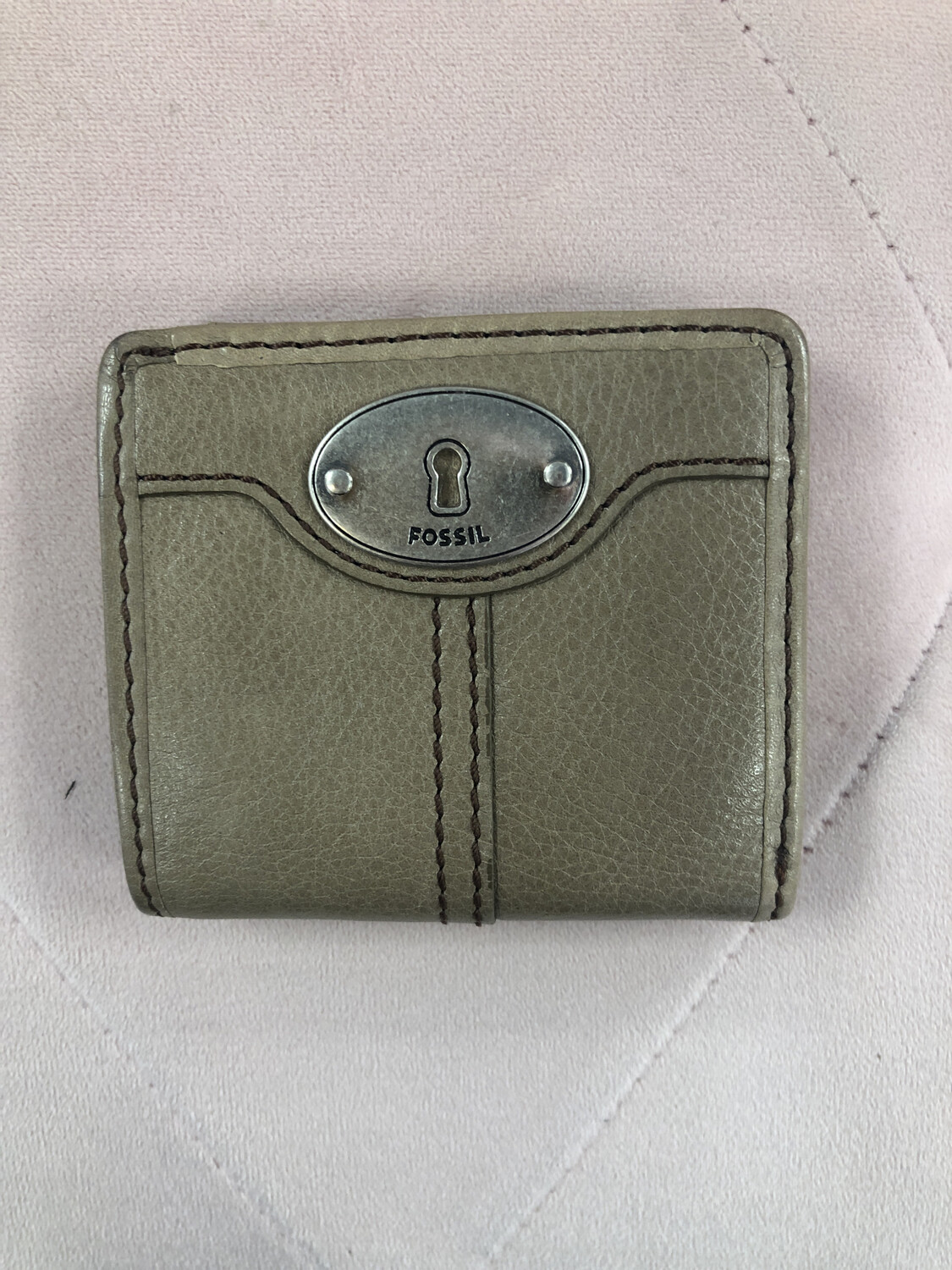 Fossil Taupe Small Leather Wallet