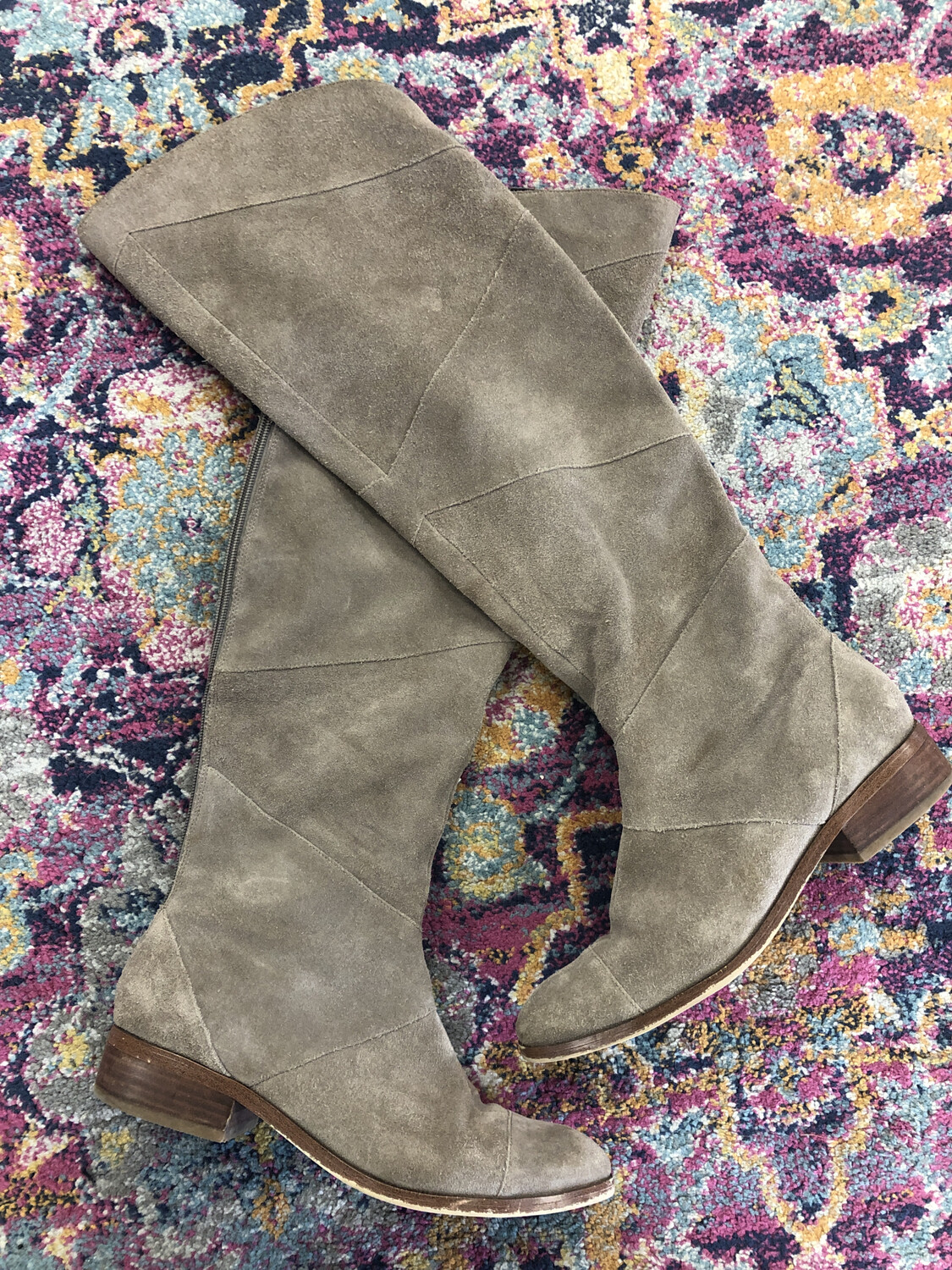 Sole Society Taupe Knee High Boots - Size 10