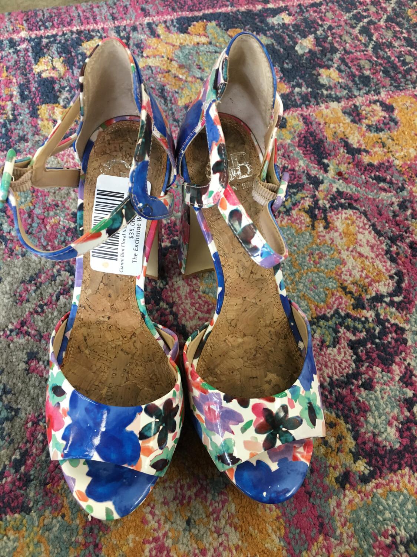 Gianni Bini Floral Sandal Heels - Size 7