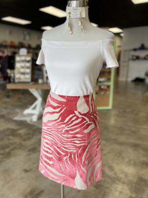 Sevier Skirts Pink Zebra Skirt - Size 10