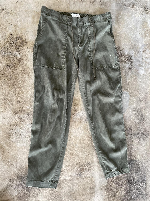 Lou & Grey Green Drawstring Pants - S