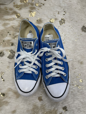 Converse Blue Lace Up Sneakers - Size 7