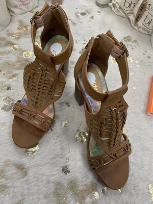 Madden Light Brown Sandal Heels - Size 8.5