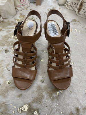 Jessica Simpson Brown Wedge Sandals - Size 11