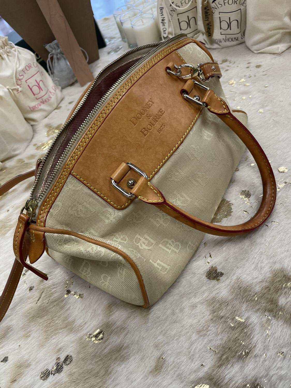 Dooney & Bourke Canvas & Leather Handbag