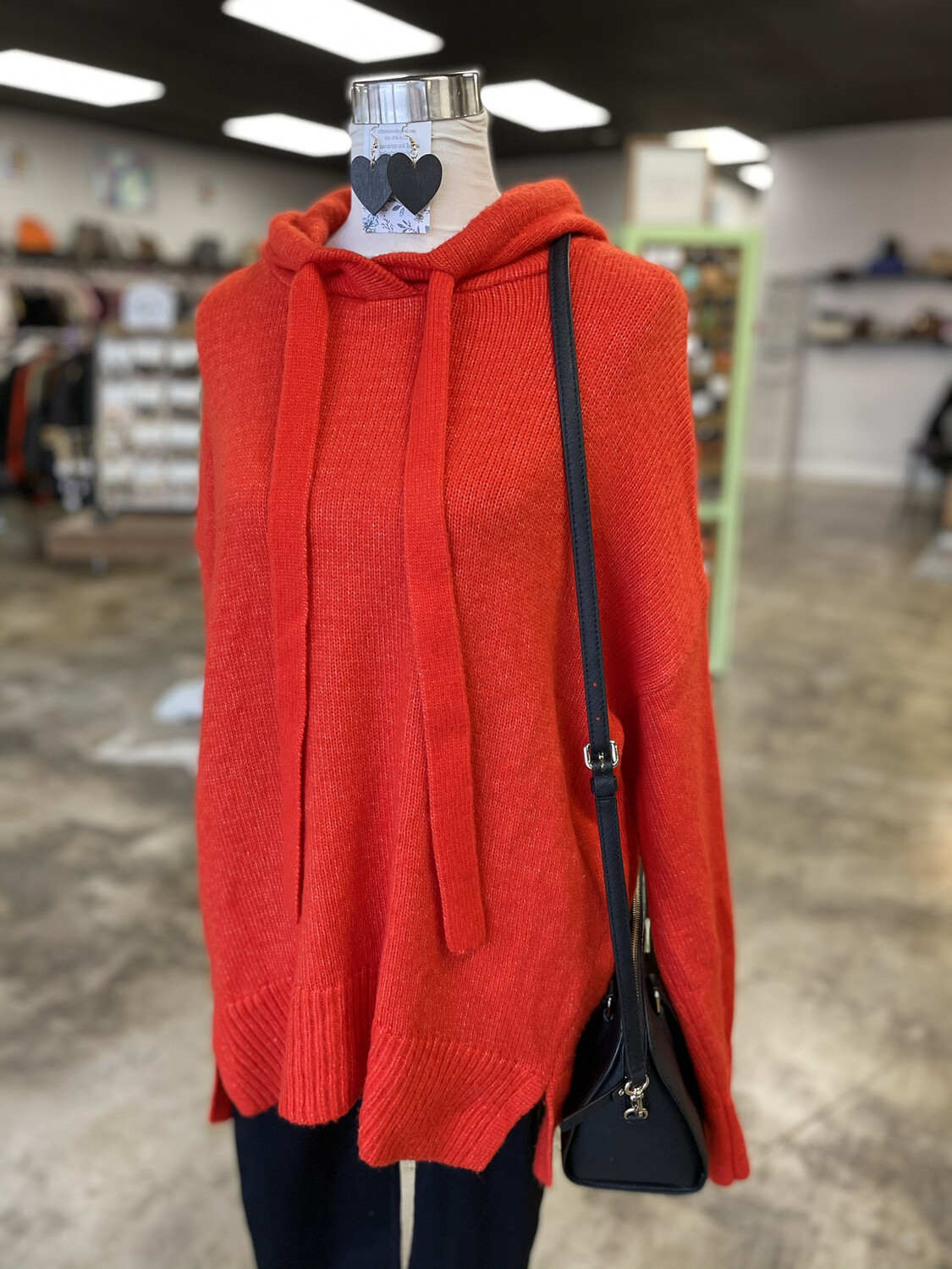 L.O.G.G. Red Hooded Pullover - S