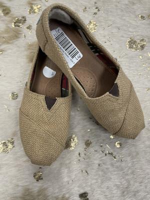 Toms Natural Burlap Shoes - Size 6