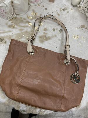 Michael Kors Brown Leather Handbag w/ Tan Straps