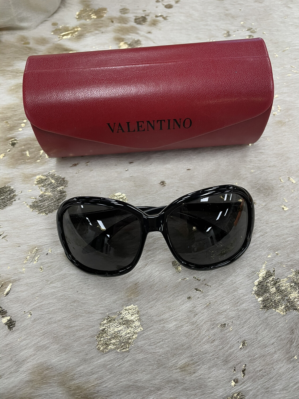 Valentino Black Frame Sunglasses
