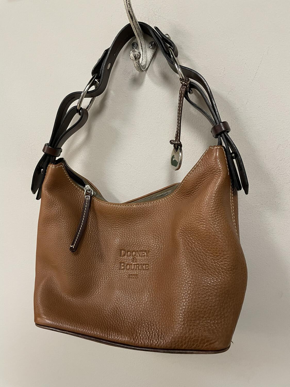 Dooney & Bourke Brown Pebbled Leather Handbag