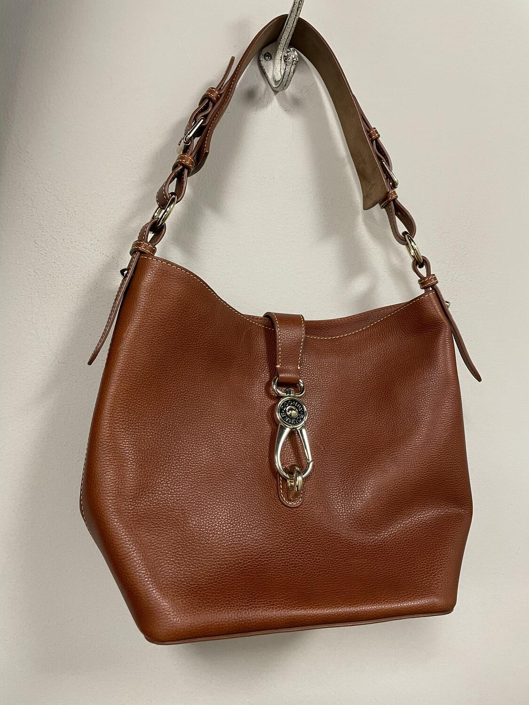 Dooney & Bourke Brown Leather Handbag w/ Clasp
