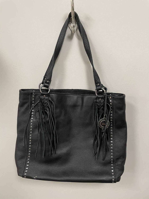 The Sak Black Fringe Leather Handbag