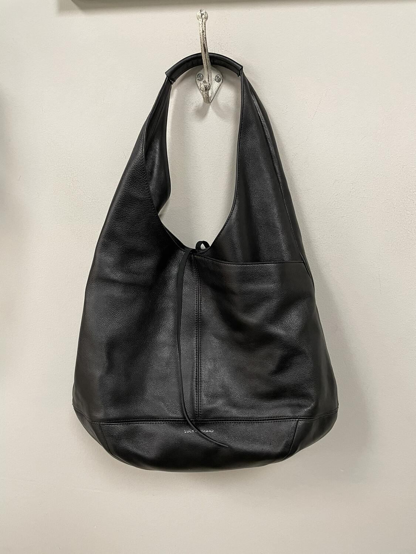 Lucky Brand Black Leather Hobo Style Handbag