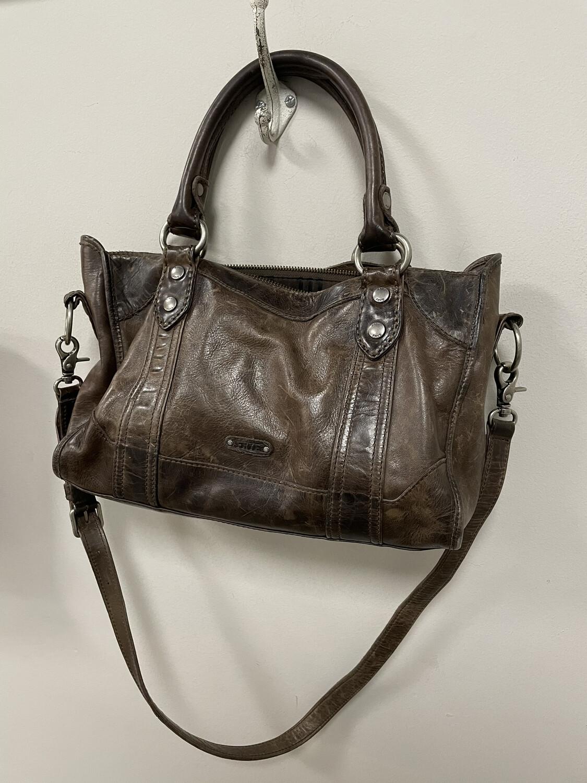 Frye Brown Leather Handbag w/ Long Strap