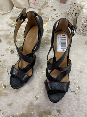 Nine West Black Sandal Heels - Size 8.5