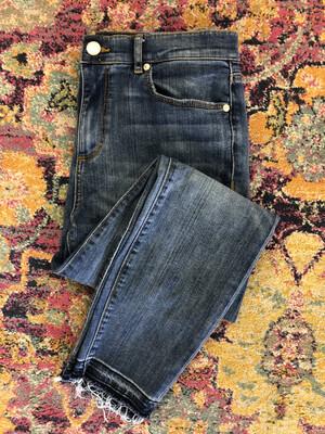 LOFT Raw Hem High Waist Skinny Jeans - Size 8