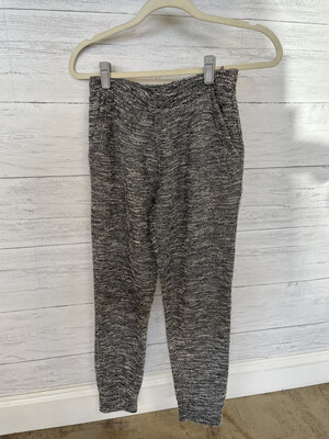 Ambiance Black & White Joggers - S