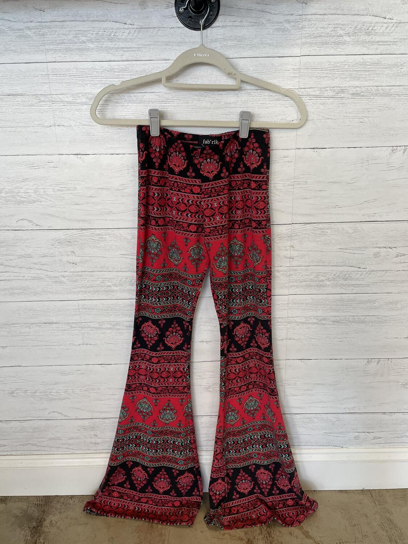 Fab'rik Red & Black Floral Bell Flares - S
