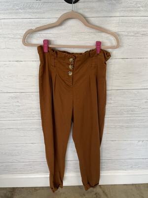 Vanilla Star Rust Paperbag Pants - M