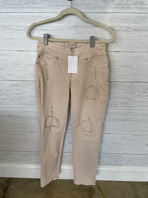 Tribal Jeans Pale Pink Distressed Jeggings - Size 4