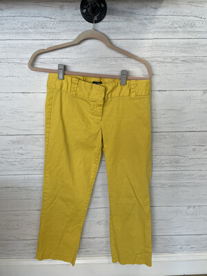 J. Crew Yellow City Fit Pants - Size 4